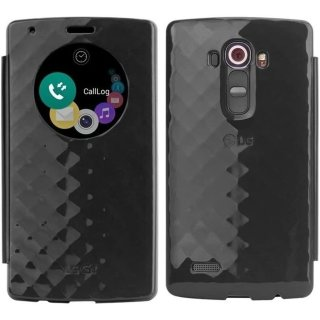 Original LG Quick Circle pop Cover Black (CFV-101) für G4