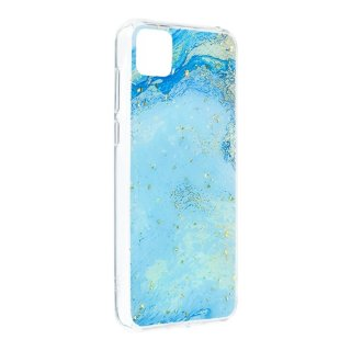 Forcell Marble Case blue für Apple iPhone XS/X
