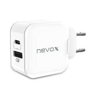 Nevox DualPort USB & Type-C Lader Quick Charge 3.0