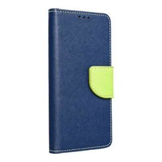 Fancy Book Case Navy Lime für Samsung Galaxy A21s